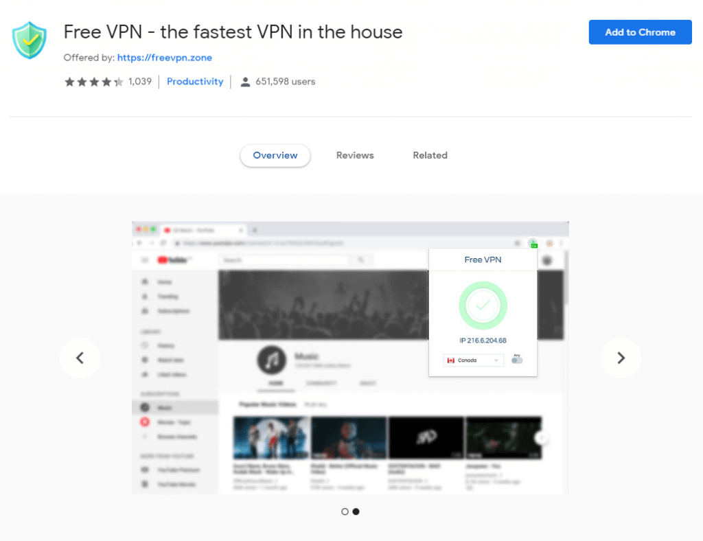 Free-VPN-Chrome-browser-extension