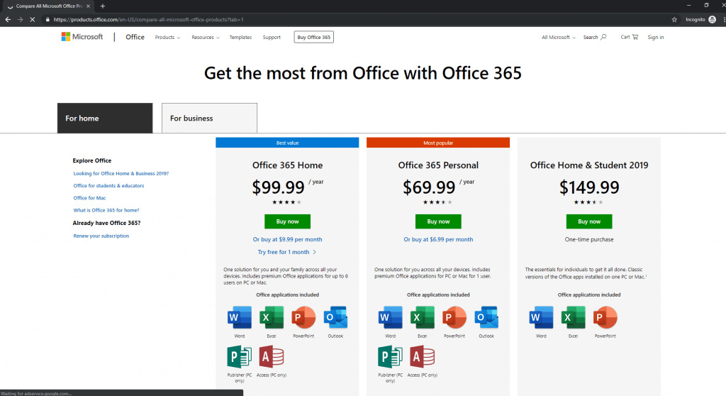 buying-Office-365-Home-from-US-IP-address