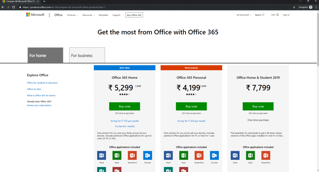 buying-Office-365-Home-with-VOPN-from-Indian-IP-address