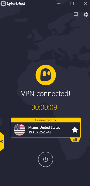 cyberghost VPN connect