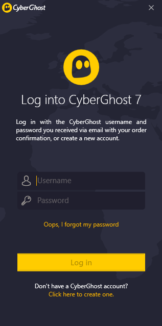 launch cyberghost