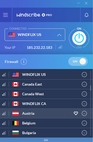 launch windscribe pro