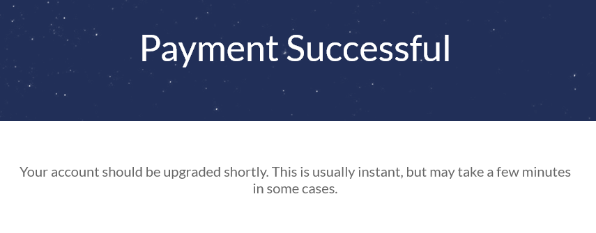 payment successful windscribe